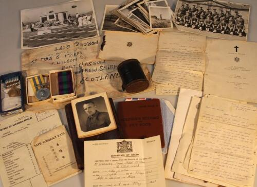 Korean War and Black Watch interest including medals and ephemera