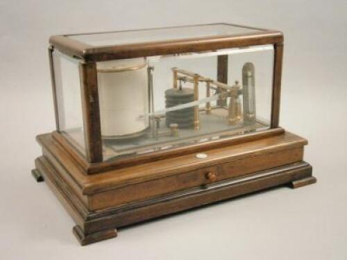 *An early 20thC mahogany cased barograph