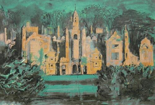 ‡John Piper (1903-1992). Harlaxton Manor (Levinson 271)