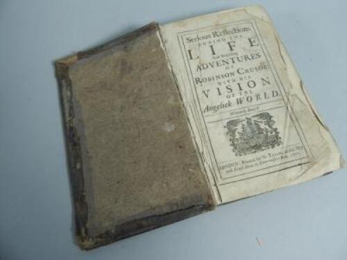 A copy of The Serious Reflections During the Life and Surprising Adventures of Robinson Crusoe