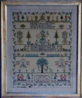 A Georgian framed sampler