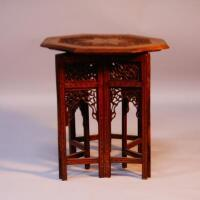 A early 20thC octagonal table in the Moorish style