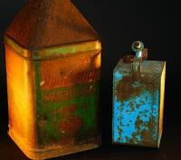 Two mid 20thC oil cans.