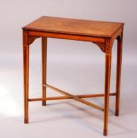 A pine octagonal occasional table