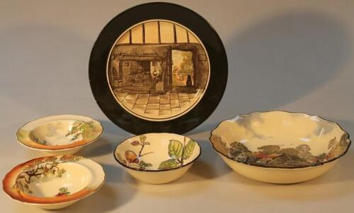 A Royal Doulton Seriesware Old English Cottage dish