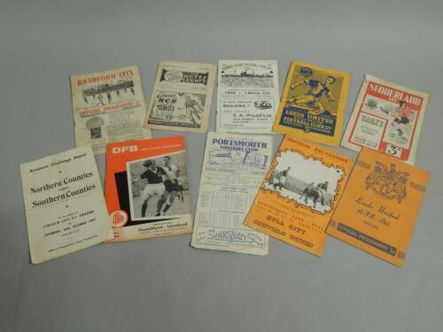 A collection of mainly pre-1950 football programmes