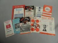 A collection of Lincoln City football programmes