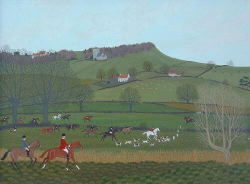 ‡Vincent Haddelsey (1934-2010). The Hunt over the field
