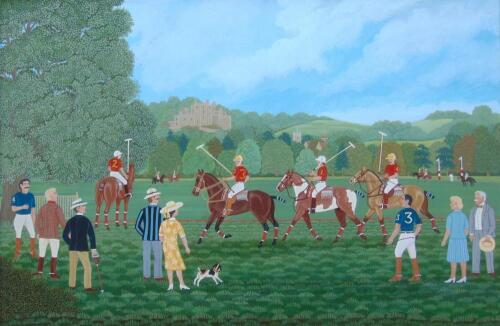‡Vincent Haddelsey (1934-2010). Polo Match