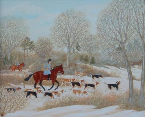 ‡Vincent Haddelsey (1934-2010). French hunting scene
