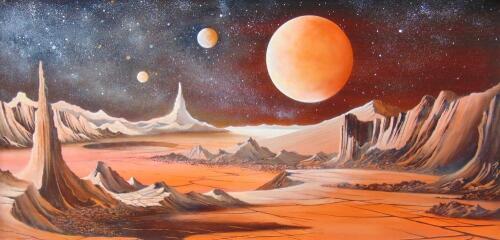 Peter Lightfoot (b.1932). Red Planet 2