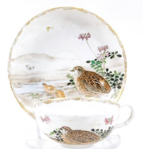 An early 20thC Noritake porcelain tea cup and saucer