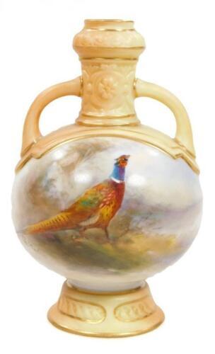 A Royal Worcester two handled baluster vase