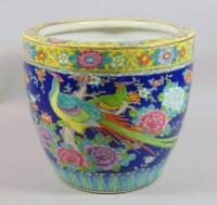 A 19thC Chinese earthenware jardiniere