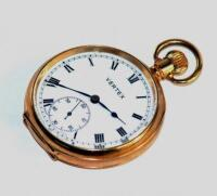 A mid 20thC 9ct gold Vertex pocket watch