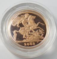 A Queen Elizabeth II 2008 full sovereign.