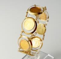 A Krugerand bracelet