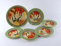 Clarice Cliff Bizarre Series Newport Pottery plates