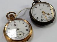 A mid 20thC Vertex silver pocket watch