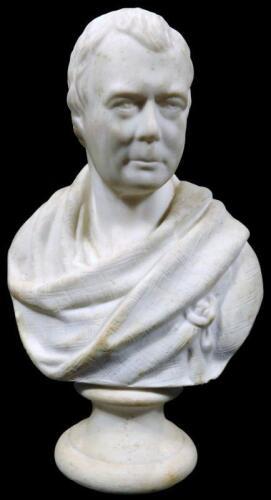 A 20thC Parian Goss bust of a Scottish figure