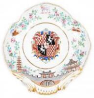 A late 18thC Derby porcelain shell shaped dish