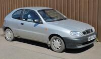 A Daewoo Lanos 3 door hatchback