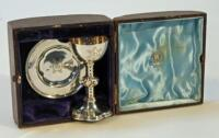 A Victorian silver travelling communion set