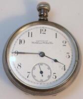 A Waltham open face pocket watch