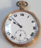 An SW&C gold plated open faced pocket watch