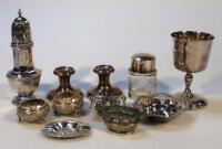 Various silver and plate