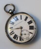 A Victorian silver open face pocket watch