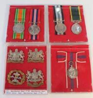 Cap badges and medals