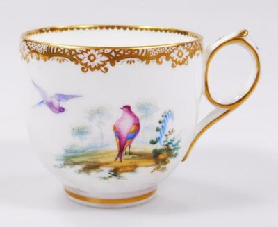 An early 19thC Coalport porcelain cup and saucer - 4