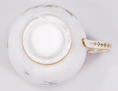An early 19thC Coalport porcelain cup and saucer - 7