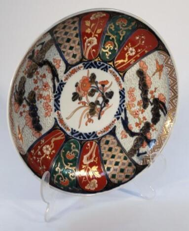 A 19thC Chinese Imari pottery charger