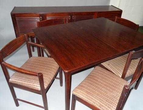 A mid 20thC A H McIntosh & Co Ltd rosewood dining suite