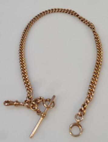 A Victorian Albert watch chain