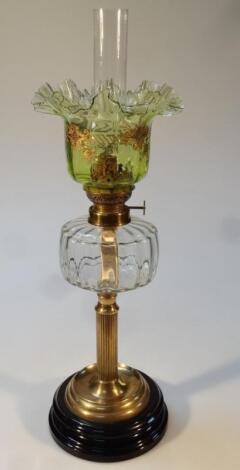 An Edwardian oil lamp