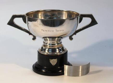 A George V silver trophy