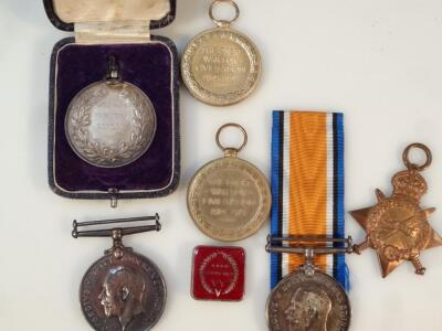 Three part WWI medal groups - 2