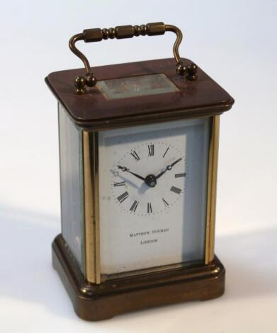 An early 20thC carriage clock