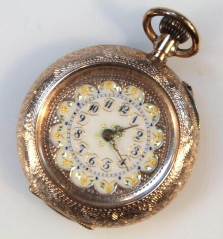 A late 19thC/early 20thC open faced fob watch