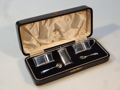 A George V silver cruet set