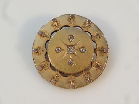 A Victorian memorial brooch