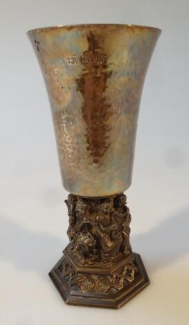 An Elizabeth II silver Lincoln Cathedral centenary goblet