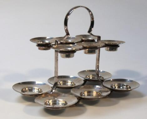 An Edwardian silver plated condiment dish
