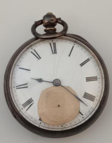 A George V silver open face pocket watch