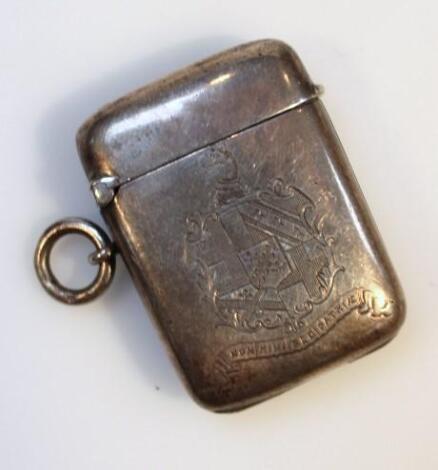 A Victorian silver pendant vesta case