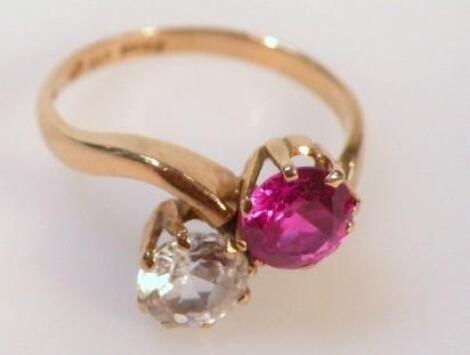 A ladies crossover dress ring