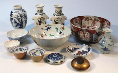 Various 19thC and later oriental ceramics
